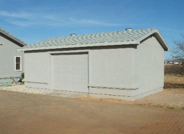 Garages by mr shed for Stucco garage